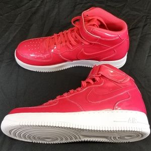 *NEW* Mens NIKE Air Force 1 Mid (11) Siren Red